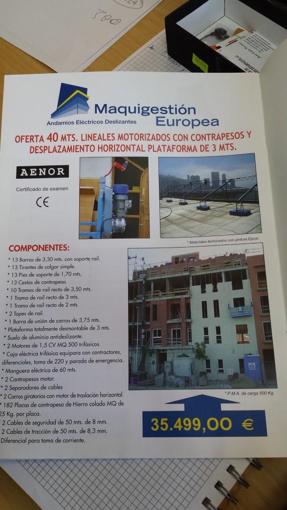Andamio Eléctrico Precio 6.500€ - OPORTUNIDAD!!!!