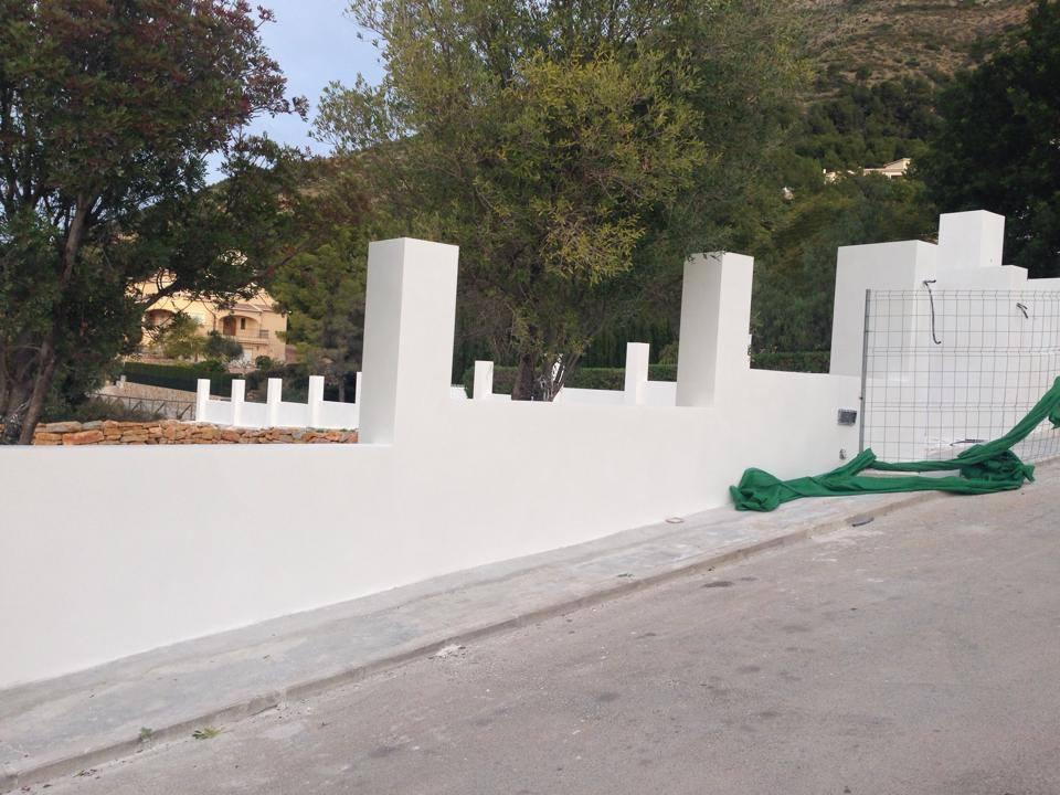 Muros de bloque revestido con mortero en alicante - Bloques para muros ...