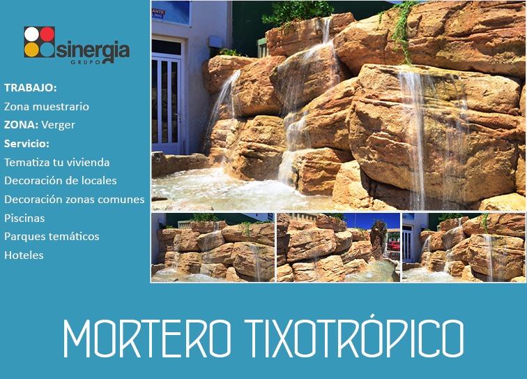 Muestrario de mortero tixotrópico en El Verger