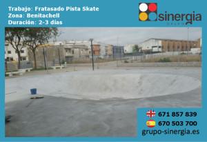 pistas de skate con hormigón fratasado