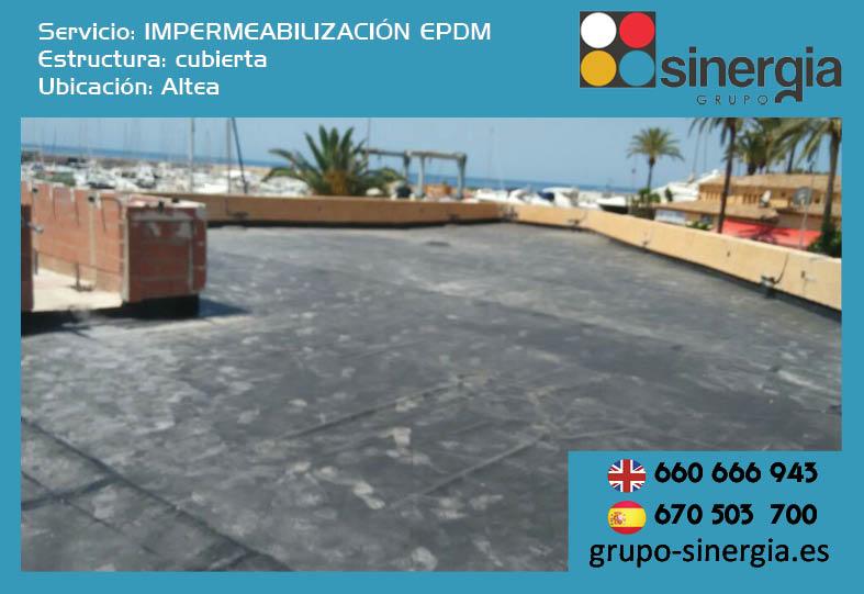 Impermeabilización EPDM en Altea