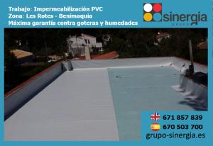 Impermeabilización con PVC en Dénia